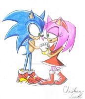 Sonic and Amy by LazerGyakusatsu