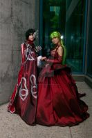 C.C. and Lelouch Prom 09 by DownFall2448