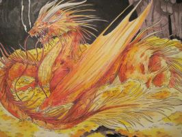 The Hobbit-Smaug by kennyfrikkindied