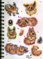 Eevee practice by Evoli-niceli