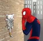 Spider and cat by LadyKallisto