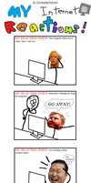My Internet Reactions! (Meme/Rage Comic thing) by TheAmazingNSixtyfour