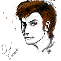 David Tennant doodle by TigresToku