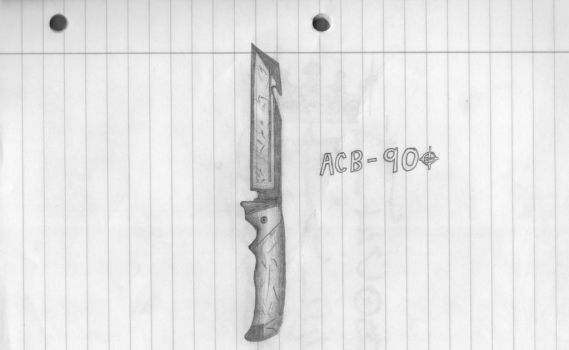 ACB-90 BF3 Inspired Knife Sketch by DICEMAN987