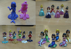 Dollar store figurines by BlackUmbral