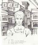Batou ghost city - lineart by Marto