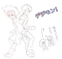 THE GOOD OLD DAYS OF DIGIMON by hinata-neko