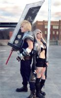 Cloud and Sephiroth - FF7 by legalrehab