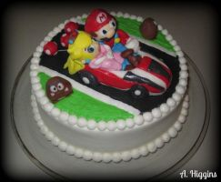 Mario Kart Cake by HigginsCustomCakes