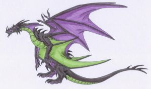 Dragon for MonsterRage by Scatha-the-Worm