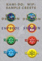 WIP KAMIDO CARD CRESTS by Peter-The-Knotter