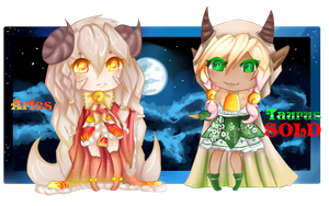 Aries and Taurus -Zodiac Adopts CLOSED- by ConnieCHI