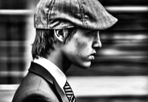 Panning Young Man by cahilus