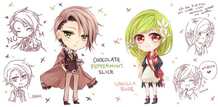 Chocolate Peppermint + Vanilla [CLOSED] by tssi
