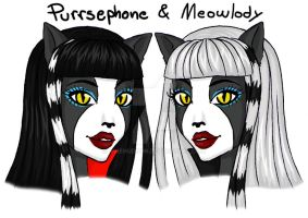 Purrsephone and Meowlody by AvieHudson