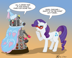 MLPFIM: Pony vs. Dalek 6 -- Rarity by the-gneech