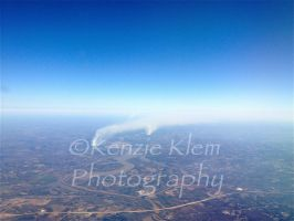 view from the plane! by kenzieklemphotog