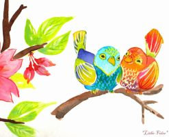 Lovebirds Practice by Lithe-Fider