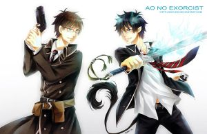 ao no exorcist fanart by sayuko