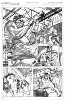 Punisher vs. Mandrill 2.0 pg.1 by MaxAlanFuchs