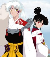 Sesshomaru and Kagura by nalina