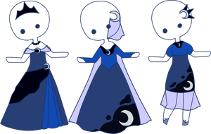 Princess Luna Themed Outfit Adopts [CLOSED] by spiritsilvermoon