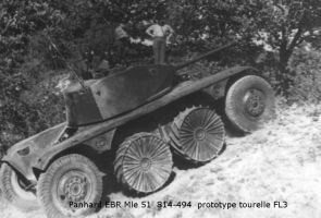 EBR Panhard Modele 51 prototype with FL3 turret. by FutureWGworker
