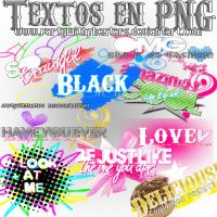 Textos en PNG by PartyWithTheStars