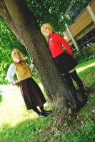 Saber dresses like Rin 7 - Two girls one tree by simakai