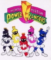 Mighty Martian Power Rangers by RABBI-TOM