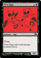 Twin Imps by WoodenOx