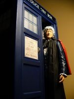 Third Doctor and Tardis by DoctorWhoNC