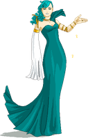 lady in green dress by tigr3ss