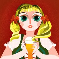 Bardame Mit Bier by pamzers2