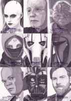 Star Wars Galactic Files 2 Sketch Cards by PatriciaRoss