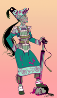 Lady Knight character by MidoriEyes