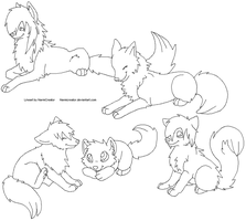 Family Lineart by NarmiCreator