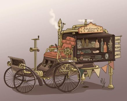 Steampunk Vehicle by astro-phase