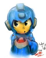 Megaman Quick Coloring by TheKidOfDrawing