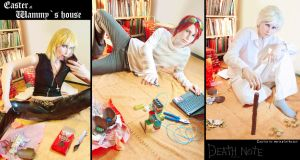 Cosplay lab - Death Note - Easter at Wammy's house by MarineOrthodox