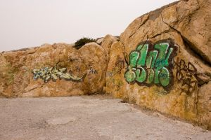 Graffiti on the Rocks by fruitycube