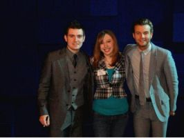 Me With My Two Favorite Members Of Celtic Thunder by Rockish21