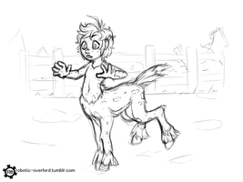 Centaur Sketch by Robotic-Overlord