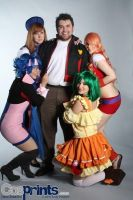 Macross Frontier Cosplay Glomp by CrimsonDomingo