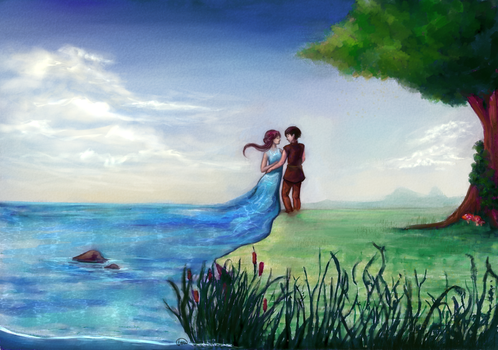 Water and Land by MidnightArtDragon