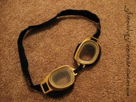 Steampunk Goggles (work in progress) by SilverwolvesForever