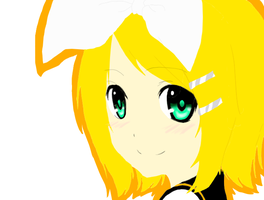 Rin Kagamine by watermelonparasite