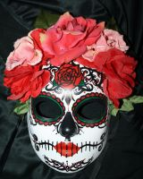 Belly dancer's Sugar Skull Mask 1 by LilBittyFish