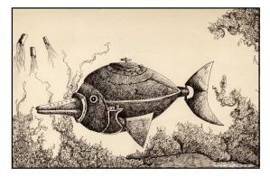 Steampunk fish by ShaneGallagher