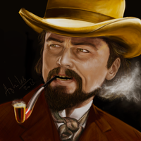 Django Unchained - Leonardo Dicaprio by Aghiles